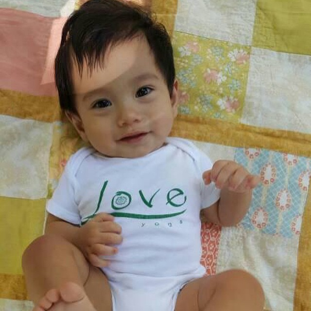 Welcome Baby Noah to the littleloveyogis club! loveyogastudio likeaboss