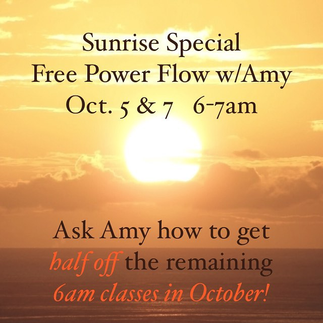 Ask Amy about the Sunrise Pass when you flow freehellip