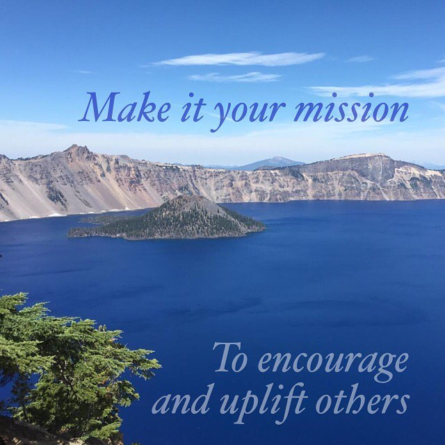 Encourage and uplift love yoga loveyoga craterlake love oregon morelovehellip