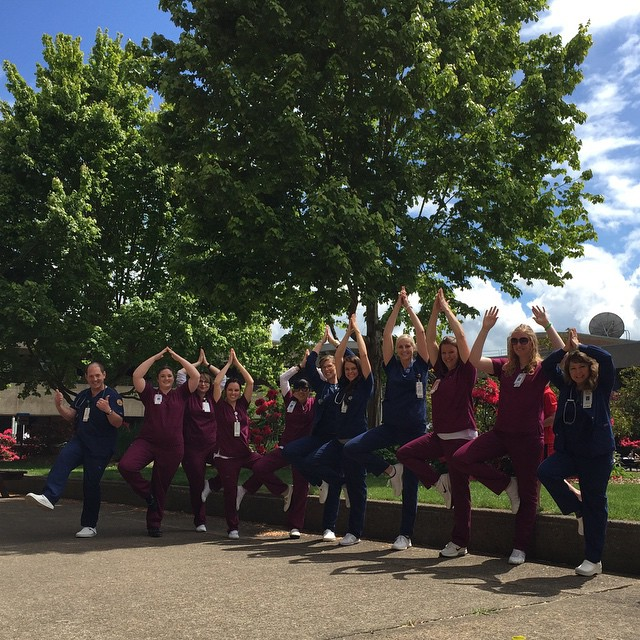 Nursing students @lbcc. Loving yoga!! #loveatlbcc #loveyogastudio