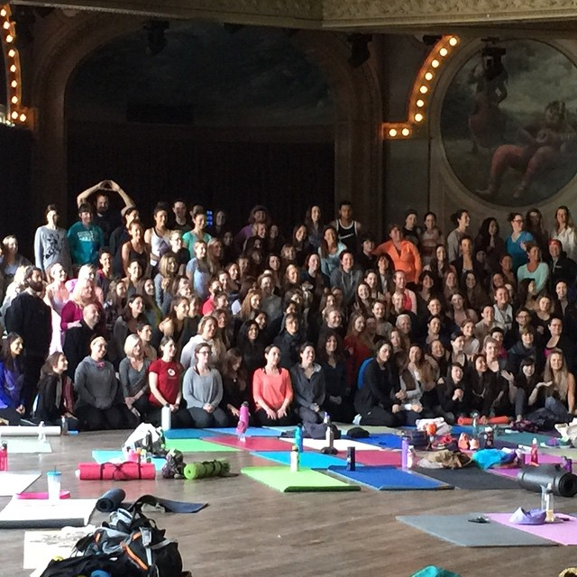 Great class with @yoga_girl on the Happiness Tour! ...and @mbahnson