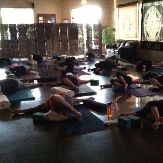 Definitely earned a long savasana this morning! Thanks y'all! #funlovinyoga…