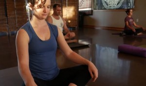 Erin meditating