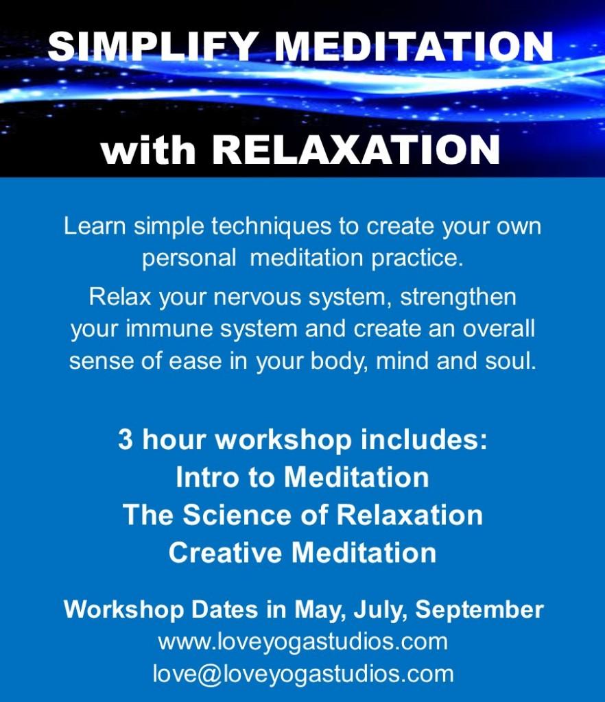 Simplify Meditation