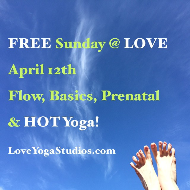 Free classes all day April 12th!!