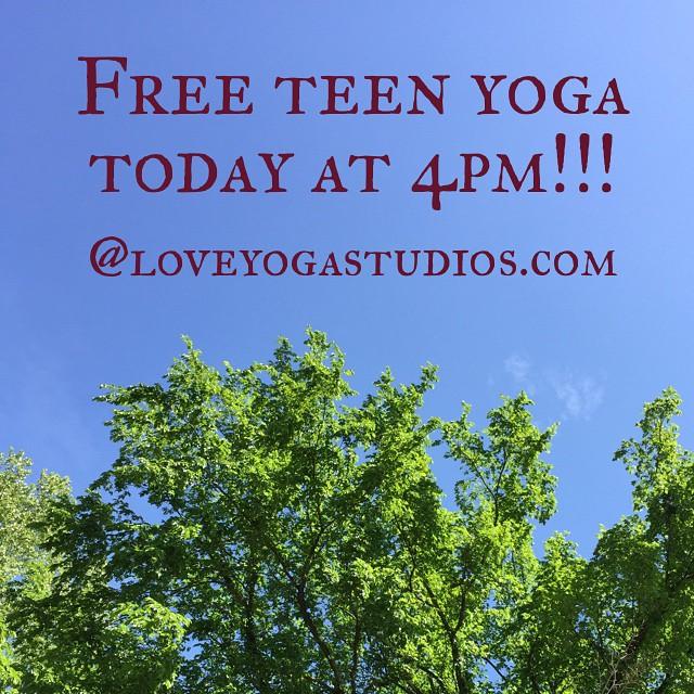 Love Thursdays! Love Yoga! #teensneedlovetoo