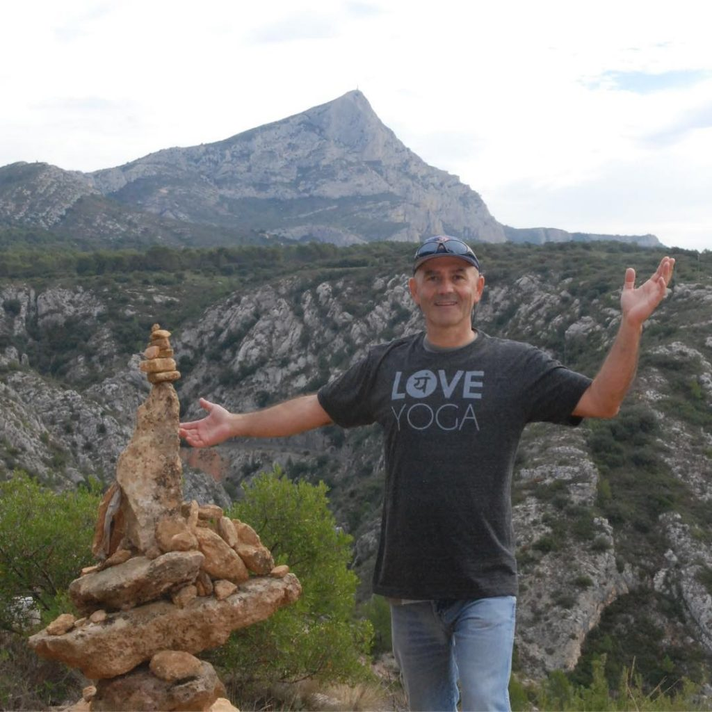 Eric sharing the Love near AixenProvence at Montagne SainteVictoire! Thesehellip
