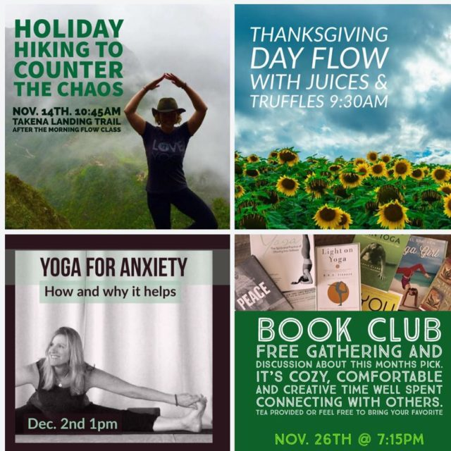 Hike tomorrow hot yoga Saturday some acupressure Thanksgiving and thehellip