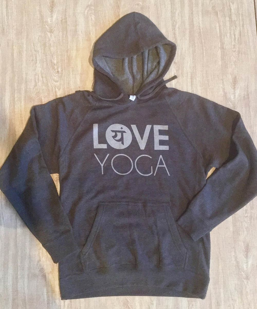 Love Yoga Hoodies from Love Yoga Studios in Albany, Oregon