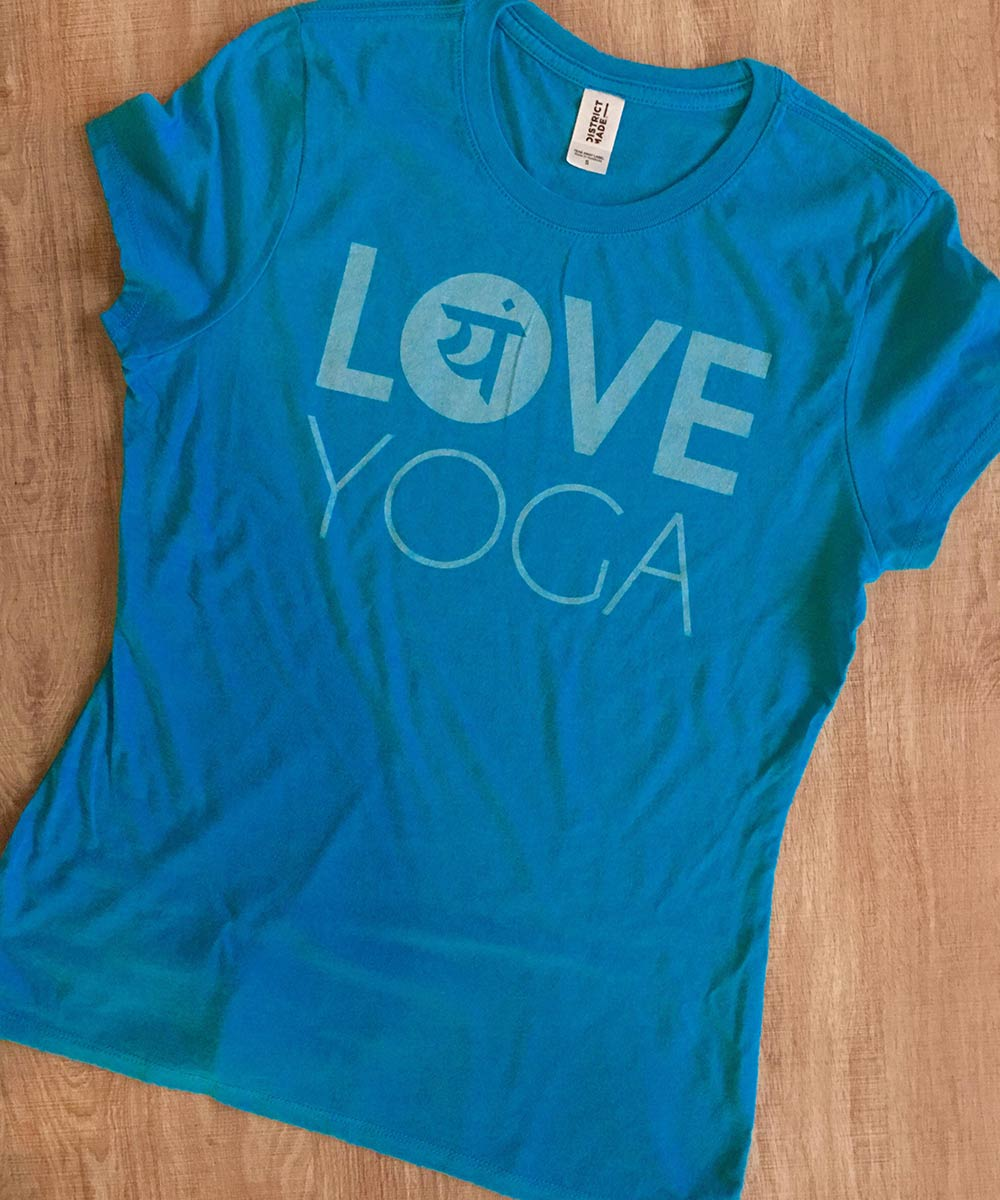 Love Yoga T-Shirts from Love Yoga Studios in Albany, Oregon